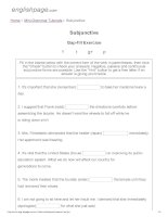 ENGLISH PAGE   subjunctive