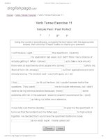 ENGLISH PAGE   verb tense exercise 11