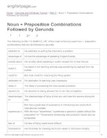 ENGLISH PAGE   noun + preposition combinations followed by gerunds