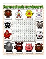 65551 farm animals wordsearch