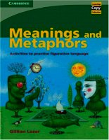 Meanings and metaphors activities to practise figurative language
