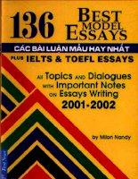 136 bài LUẬN văn mẫu HAY NHẤT IELTS và TOEFL ESSAY