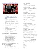26087 one directions one thing song cloze and questions activity