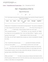 ENGLISH PAGE   get + prepositions (part 3)