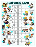 57951 school life crossword puzzle