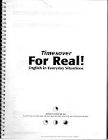 Timesaver for real english in everyday situations