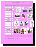3742 vocabulary matching worksheet  jobs 2