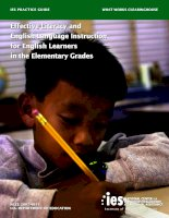 Effective literacy and english language instruction for english learners in the elementary grades