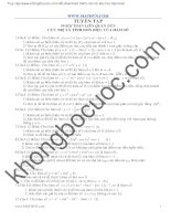 99 bài toán liên quan đến cực trị và khảo sát hàm số