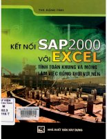 Kết nối SAP2000 với excel tính toán khung và móng làm việc đồng thời với nền  đặng tỉnh