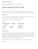 ENGLISH PAGE   active   passive verb forms