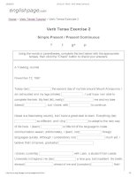 ENGLISH PAGE   verb tense exercise 2