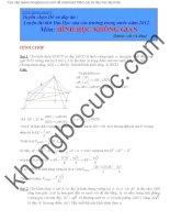 Bài tập hình học không gian trong đề thi