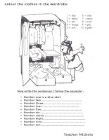 54534 colour the clothes in the wardrobe