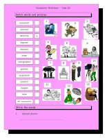 3743 vocabulary matching worksheet  jobs 3