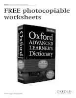 Free photocopiable worksheets oxford advanced learners dictionary