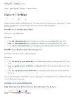 ENGLISH PAGE   future perfect