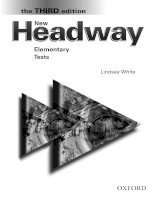 new headway 3rd edition elem tests