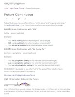 ENGLISH PAGE   future continuous
