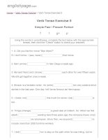 ENGLISH PAGE   verb tense exercise 5