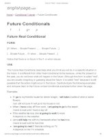 ENGLISH PAGE   future conditionals