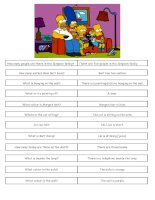 3612 the simpsons  speaking exercise