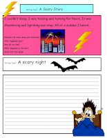 27780 creative writing a scary story 3 a2 level