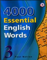 4000 từ vựng tiếng anh quyển 3