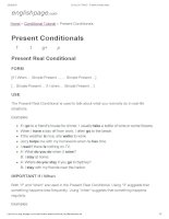 ENGLISH PAGE   present conditionals