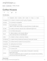 ENGLISH PAGE   coffee houses