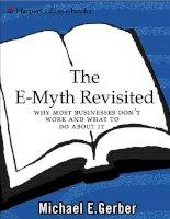 The E myth Bí quyết xây dựng doanh nghiệp hiệu quả bàn tiếng Anh
