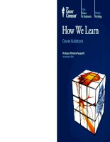 How we learn course guidebook