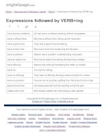 ENGLISH PAGE   expressions followed by VERB+ing