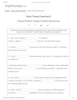 ENGLISH PAGE   verb tense exercise 8