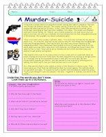 14025 imaginative reading comprehension  a murdersuicide
