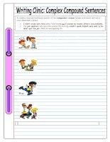 5034 writing clinic complex compound sentences