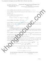 Đề thi thử toán 2016 trường THPT hậu lộc 2 lần 1
