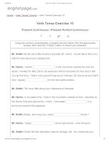 ENGLISH PAGE   verb tense exercise 10