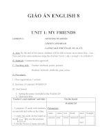 Giáo án Tiếng Anh 8 Unit 1: My friends