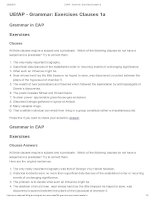 UEfAP   grammar  exercises clauses 1a