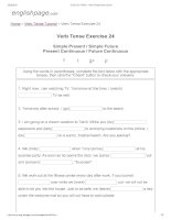 ENGLISH PAGE   verb tense exercise 24