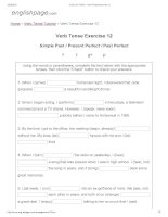 ENGLISH PAGE   verb tense exercise 12