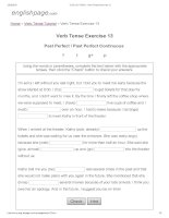 ENGLISH PAGE   verb tense exercise 13