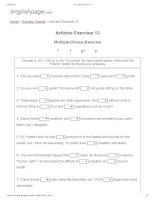 Articles exercise 13