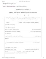 ENGLISH PAGE   verb tense exercise 9