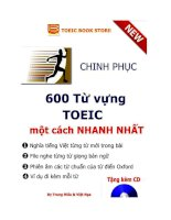 CHINH PHỤC 600 từ VỰNG TRONG kỳ THI TOEIC