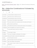 ENGLISH PAGE   be + adjective combinations followed by infinitives