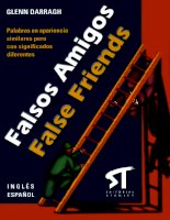Glenn darragh falsos amigos false friends ingles espanol spanish edition  2003