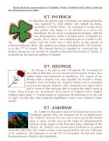 810 the texts about the patron saints of england wales scotland and ireland