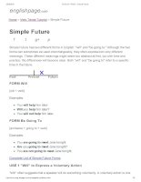 ENGLISH PAGE   simple future
